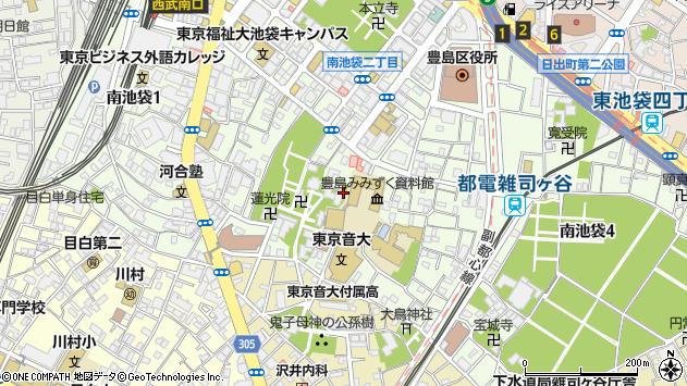 東京都豊島区南池袋周辺の地図