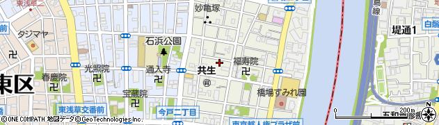 東京都台東区橋場1丁目周辺の地図