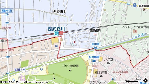 東京都立川市西砂町1丁目2周辺の地図