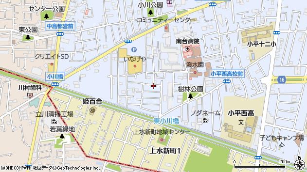 東京都小平市小川町周辺の地図
