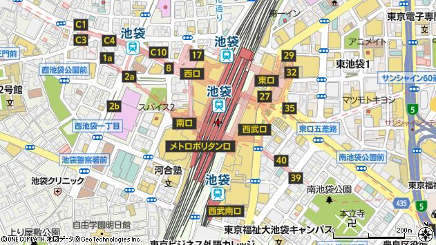 東京都豊島区南池袋1丁目28周辺の地図