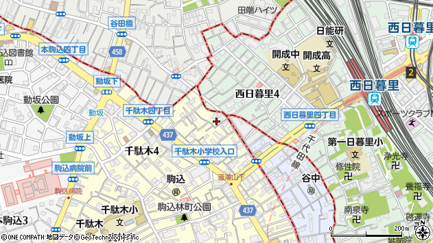 東京都文京区千駄木4丁目19-16周辺の地図