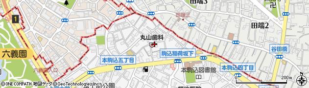 東京都文京区本駒込5丁目周辺の地図