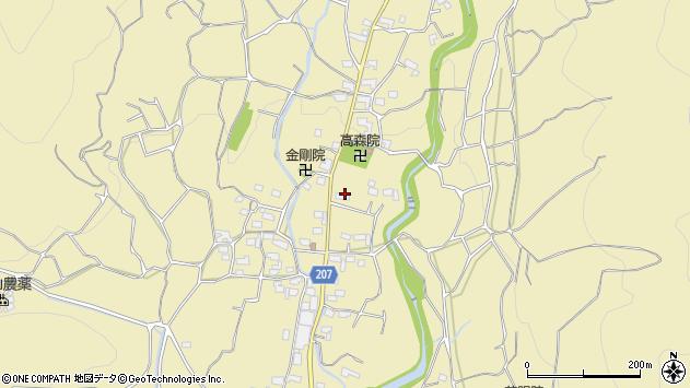 山梨県甲州市塩山竹森周辺の地図