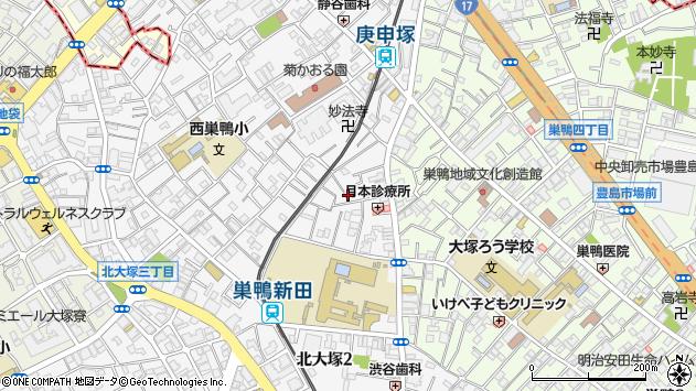 東京都豊島区西巣鴨2丁目周辺の地図