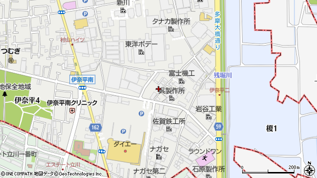 東京都武蔵村山市伊奈平2丁目周辺の地図