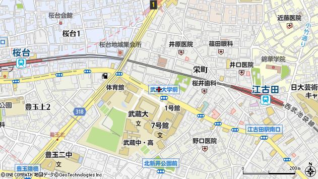 東京都練馬区栄町11-2周辺の地図