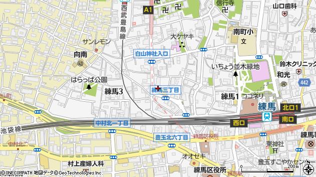 東京都練馬区練馬3丁目周辺の地図
