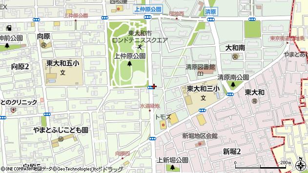 東京都東大和市清原4丁目6-11周辺の地図