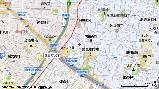 東京都豊島区池袋本町2丁目周辺の地図