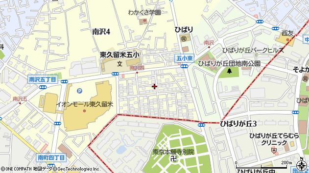 東京都東久留米市南沢5丁目周辺の地図
