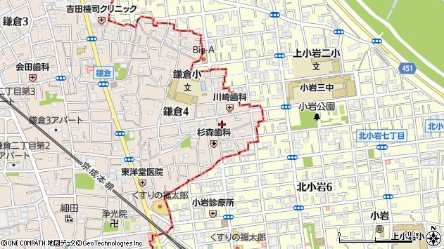東京都葛飾区鎌倉4丁目周辺の地図