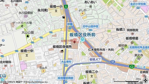 東京都板橋区周辺の地図