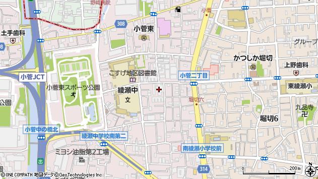 東京都葛飾区小菅2丁目13-14周辺の地図