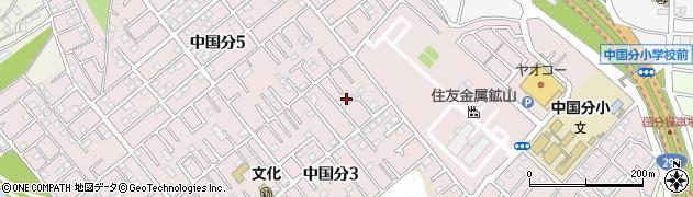 千葉県市川市中国分3丁目14周辺の地図