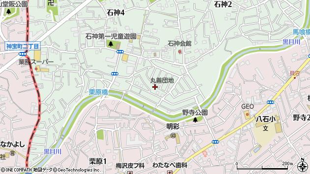 埼玉県新座市石神3丁目周辺の地図