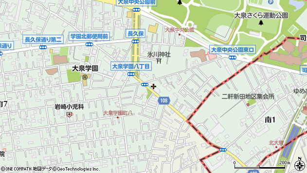 東京都練馬区大泉学園町8丁目18-10周辺の地図