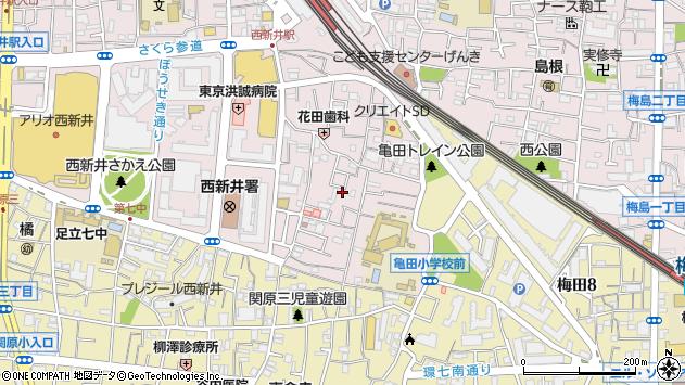 東京都足立区西新井栄町1丁目周辺の地図