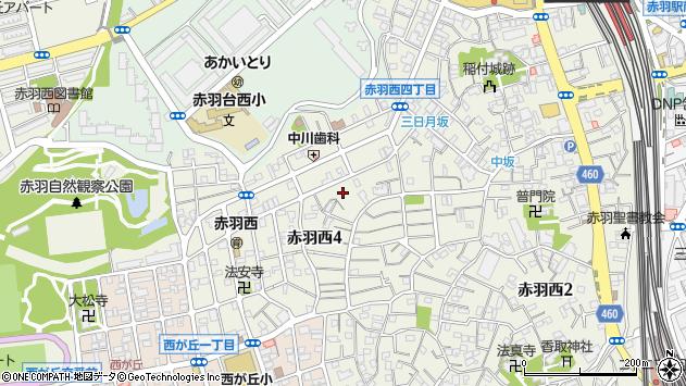 東京都北区赤羽西4丁目周辺の地図