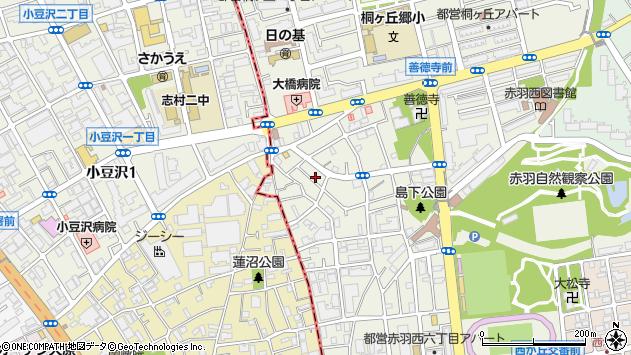 東京都北区赤羽西6丁目周辺の地図