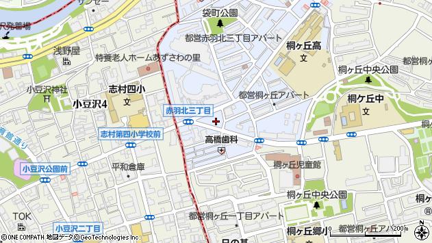 東京都北区赤羽北3丁目25周辺の地図