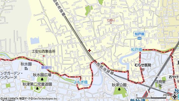 埼玉県所沢市上安松226周辺の地図