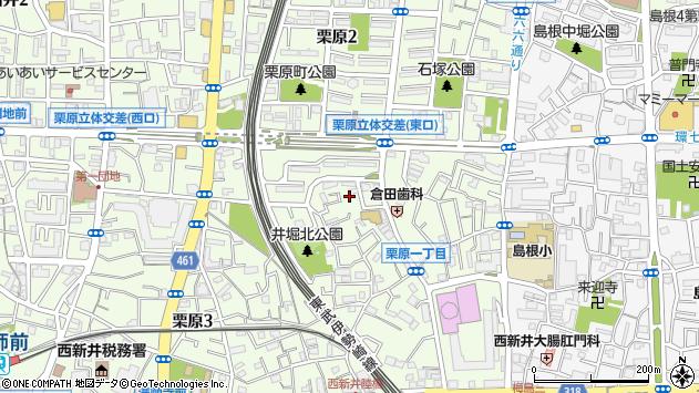 東京都足立区栗原周辺の地図