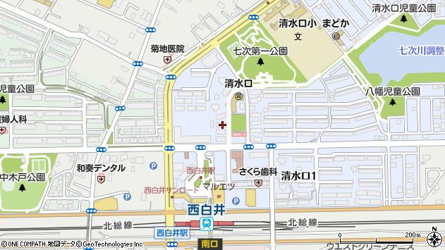 千葉県白井市清水口2丁目1-3周辺の地図