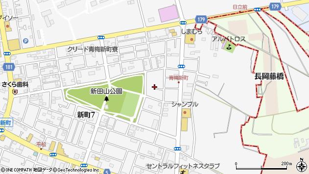 東京都青梅市新町周辺の地図