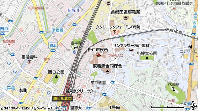 千葉県松戸市周辺の地図