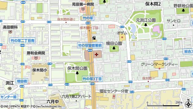 東京都足立区保木間1丁目16-4周辺の地図