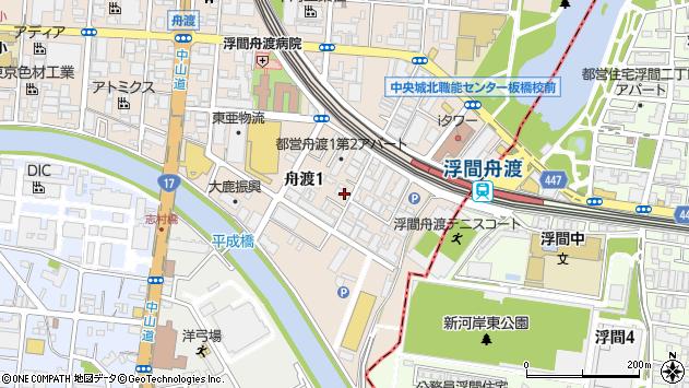 東京都板橋区舟渡1丁目周辺の地図