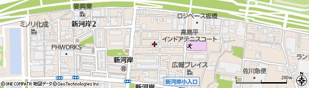東京都板橋区新河岸1丁目周辺の地図