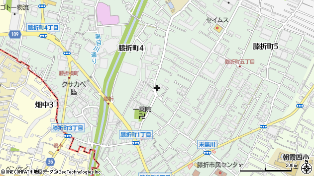 埼玉県朝霞市膝折町4丁目周辺の地図