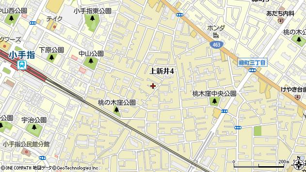 埼玉県所沢市上新井周辺の地図
