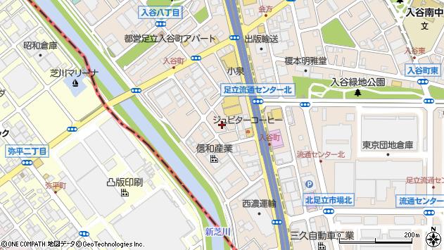 東京都足立区入谷7丁目周辺の地図