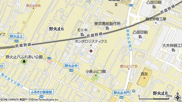 埼玉県新座市野火止7丁目12-19周辺の地図