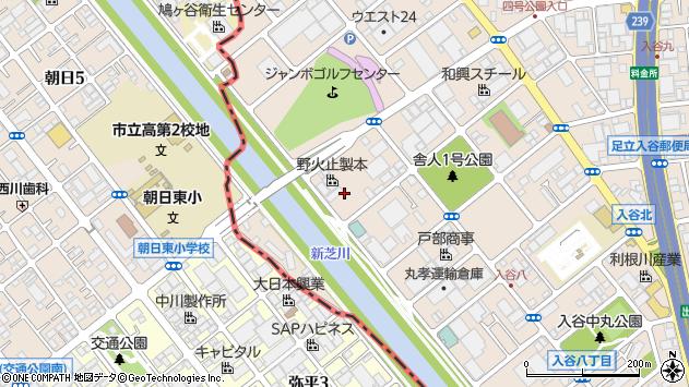 東京都足立区入谷9丁目27周辺の地図