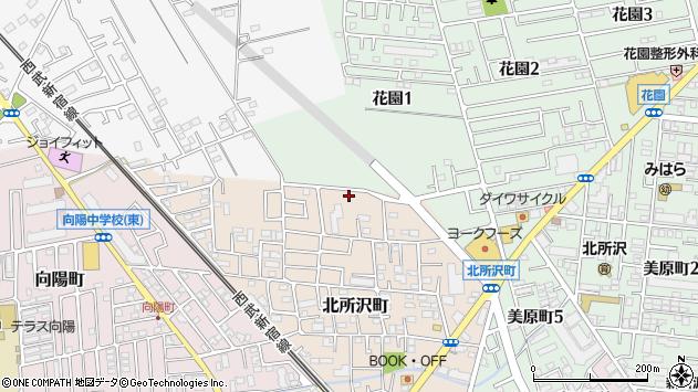 埼玉県所沢市北所沢町周辺の地図