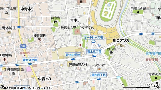 埼玉県川口市青木5丁目周辺の地図