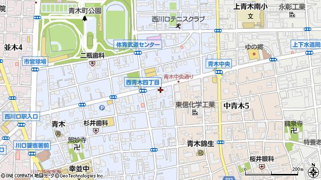 埼玉県川口市西青木3丁目15周辺の地図