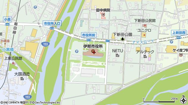 長野県伊那市周辺の地図