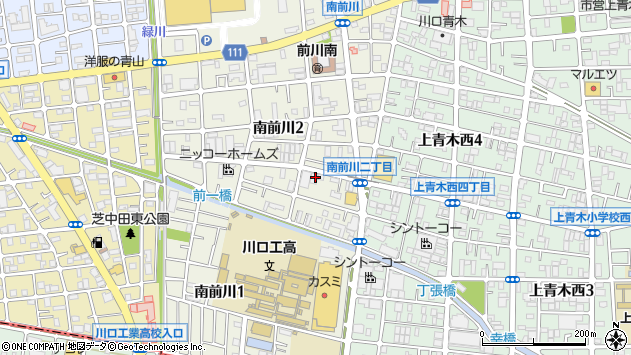 埼玉県川口市南前川周辺の地図