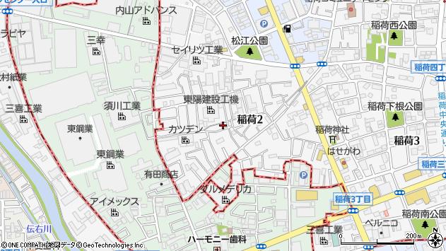 埼玉県草加市稲荷 住所一覧から地図を検索