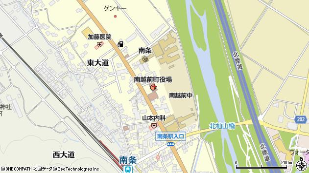 福井県南条郡南越前町周辺の地図