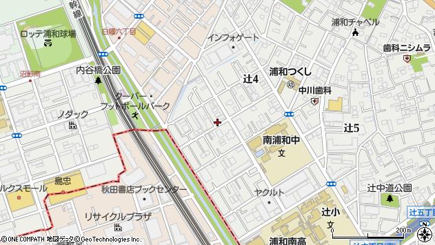 埼玉県さいたま市南区辻4丁目周辺の地図