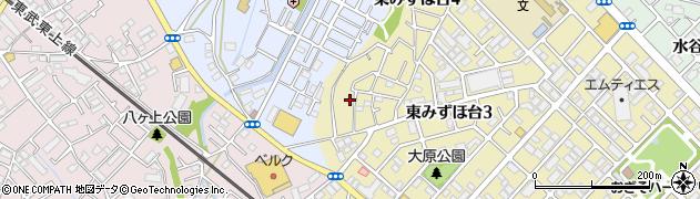 埼玉県富士見市東みずほ台周辺の地図
