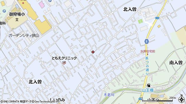 埼玉県狭山市北入曽周辺の地図