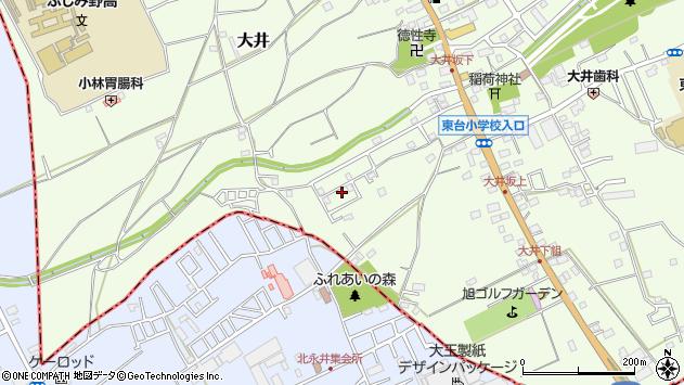 埼玉県ふじみ野市大井周辺の地図