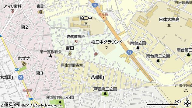 千葉県柏市弥生町周辺の地図